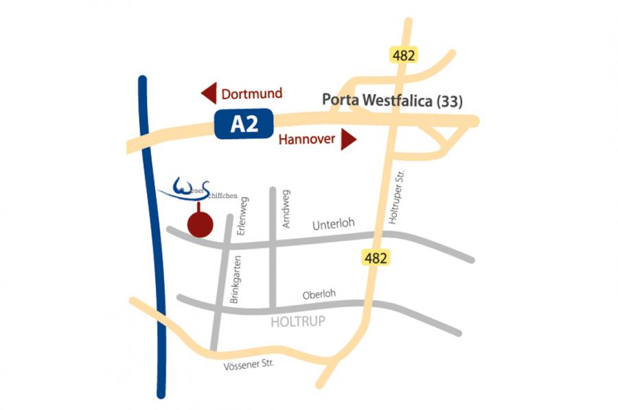 Hotel Für Durchreisende Von Der Autobahn A2 Weserschiffchen Hotel