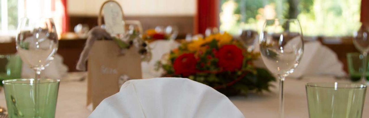 Restaurant Weserschiffchen Tischdeko