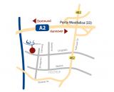 Karte Anreise über Autobahn zum Hotel Restaurant Weserschiffchen