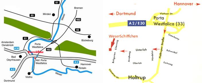 Restaurant Weserschiffchen Porta Westfalica Anfahrt